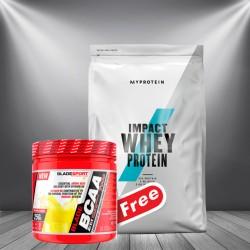 1+1 FREE - Myprotein Impact Whey Protein + Blade BCAA