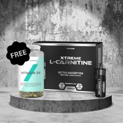 1+1 FREE - Myprotein Vitamin D + XCore L-Carnitine 3000