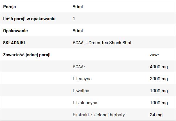 Съдържание на AllNutrition BCAA + Green Tea Shock