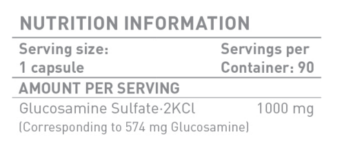 Съдържание на Battery Nutrition Glucosamine