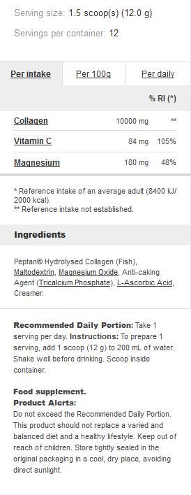 Съдържание на Prozis Marine Collagen + Magnesium