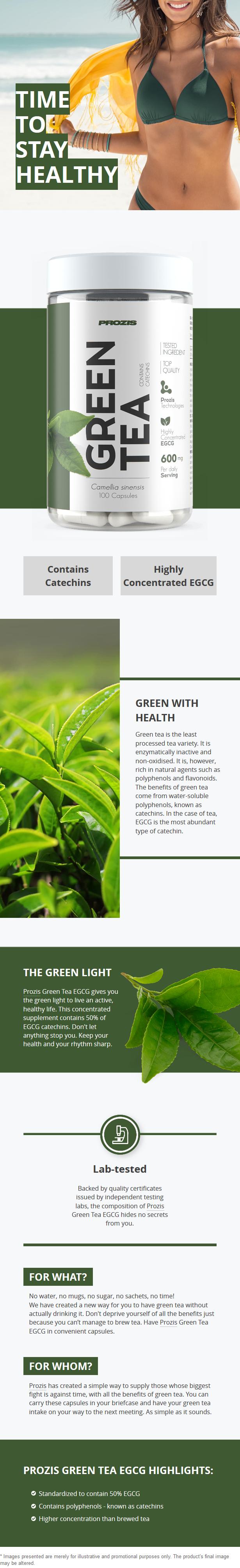 Ревю на Prozis Green Tea