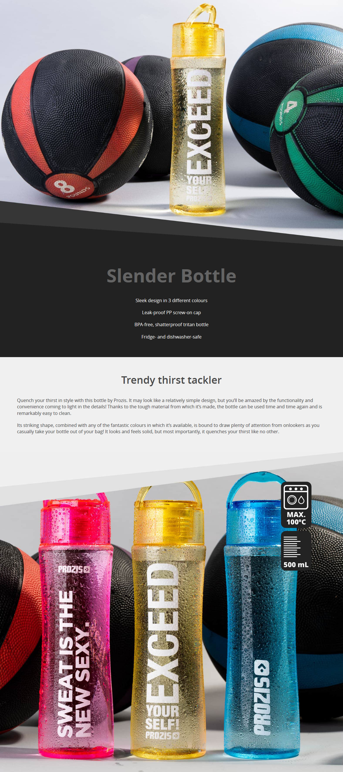 Ревю на Prozis Slender Bottle Yellow